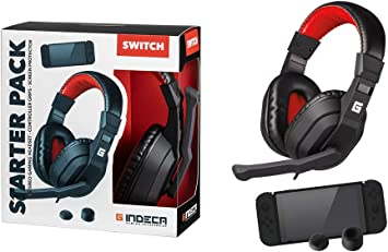 Indeca Pack Gaming Nintendo Switch: Headset + joycon Grips + ...