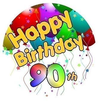 Happy 90th Birthday Tortenaufsatz Mit Zucker Glasur