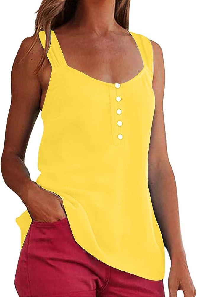 riou Camisetas Mujeres Verano Tamaño Grande Blusa Tirantes Mujer Sexy Casual sin Mangas Blusa Cami Camisas Camiseta Chaleco Tops Casual Fiesta: Amazon.es: Ropa y accesorios