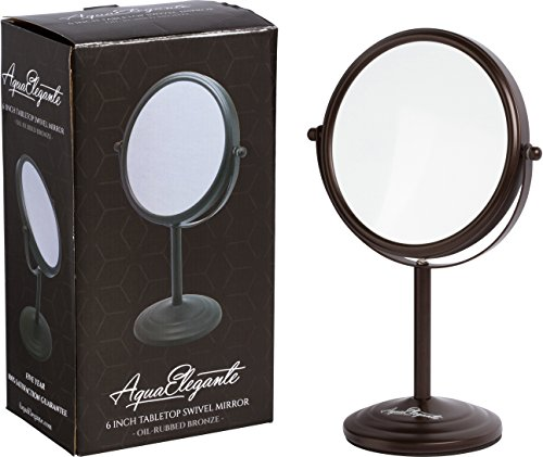 60%OFF Tabletop 5X Magnifying Vanity Mirror With Brushed Stainless Finish by Finishing Touches