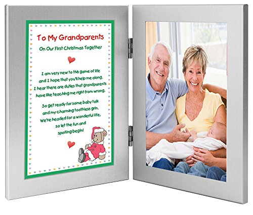 Christmas Gift for New Grandparents - To My Grandparents On Our First Christmas Together - Add Photo to Frame