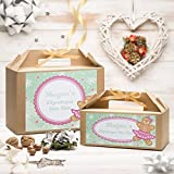 Personalised Christmas Eve Box | Gold Ribbon | Gingerbread Girl Design