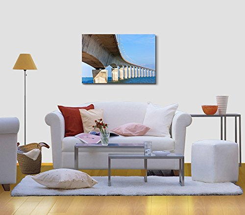 Curved Concrete Bridge Over The Water Home Deoration Wall Decor