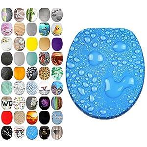 WC-Sitz Wassertropfen blau mit Regentropfen design