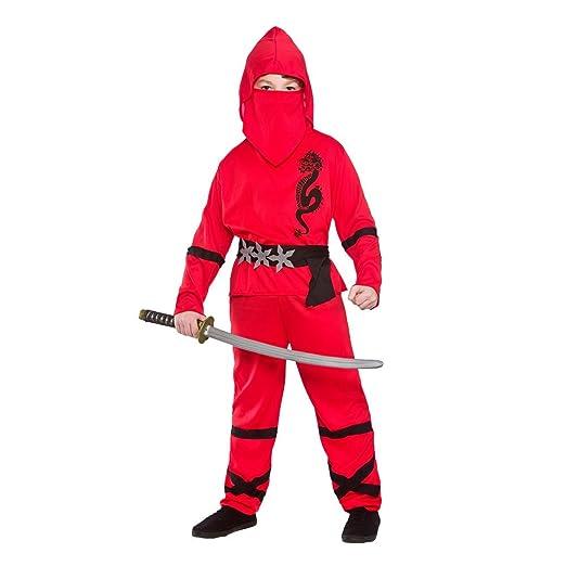Ninja Nino Disfraz Talla 11-13 años (146-158cm): Amazon.es ...