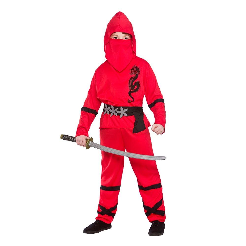 Ninja Nino Disfraz Talla Medio 5-7 años (122-134cm)