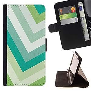 For Samsung Galaxy S6 EDGE (NOT S6) Plus / S6 Edge+ G928 Case , Colores en colores pastel del verde del trullo blanco- la tarjeta de Crédito Slots PU Funda de cuero Monedero caso cubierta de piel