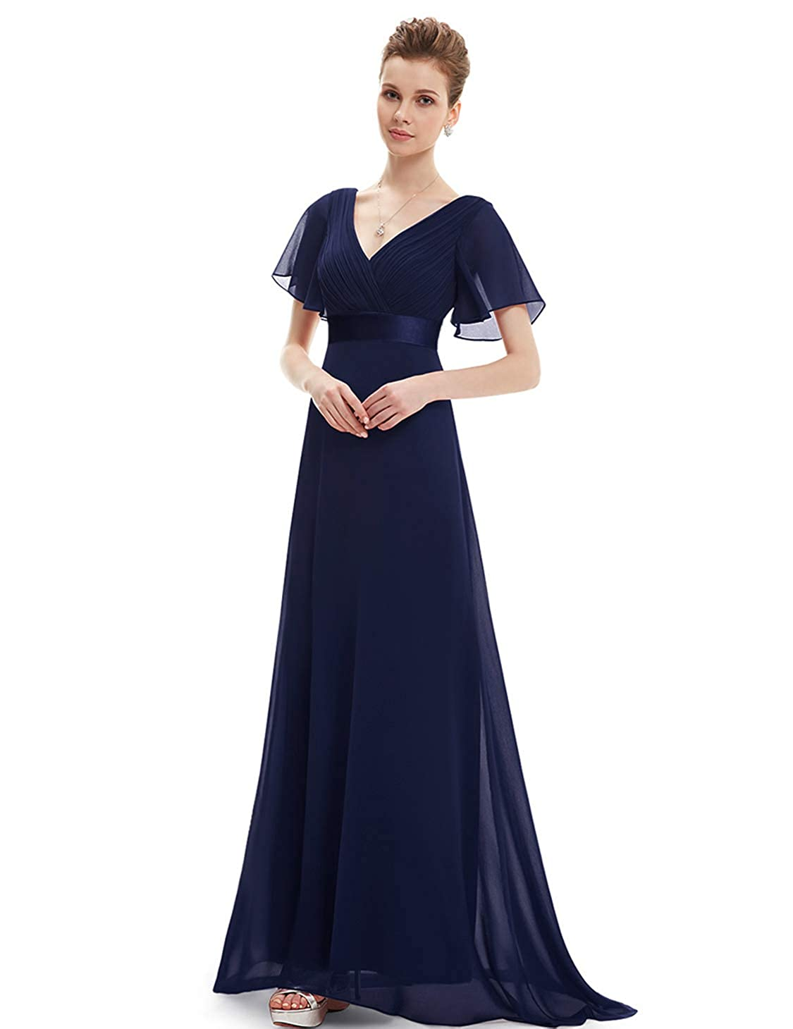 Ever pretty cuello en V Vestido de noche para Mujer 09890: Amazon.es: Ropa y accesorios