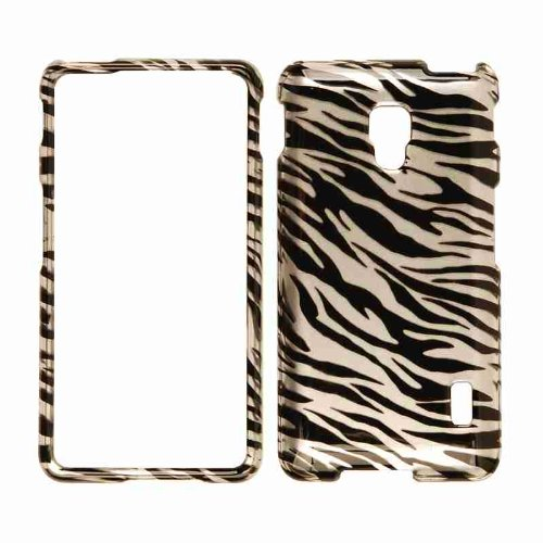 Cell Armor Snap-On Cover for LG Optimus F6 - Retail Packaging - Trans. Zebra Print ()