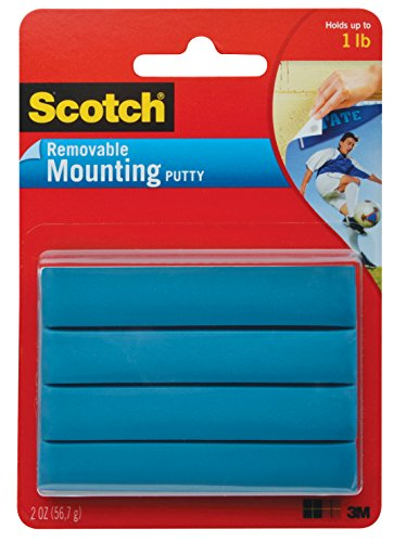 Scotch Lightweight Mounting Putty, 2 oz, Blue (1) ()