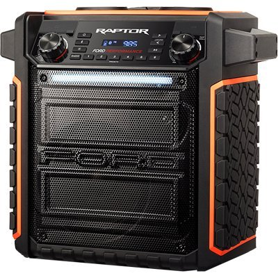 (ION Audio Raptor | Portable Wireless Speaker 100-watt Water-Resistant with Bluetooth Streaming, 75-hour Rechargeable Battery, AM/FM Radio and Multi-Color Light Bar)
