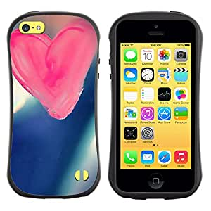 Suave TPU GEL Carcasa Funda Silicona Blando Estuche Caso de protección (para) Apple Iphone 5C / CECELL Phone case / / Love Pink Love /
