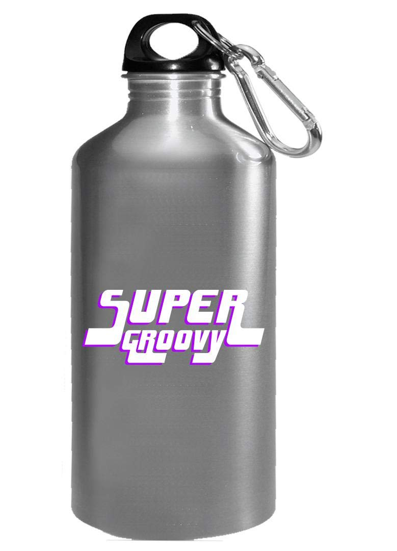 Funny Disco - Super Groovy - Dance Rhythm Moves Beats Steps Dancing Humor - Water Bottle