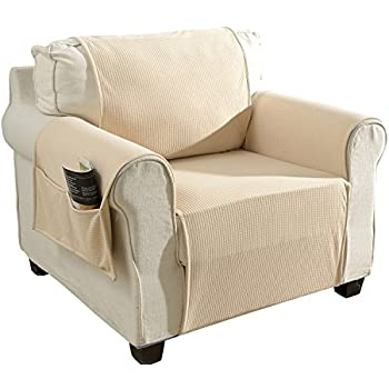 Aidear Anti-Slip Sofa Slipcovers Jacquard Fabric Pet Dog Couch Covers Protectors (Chair, Beige)
