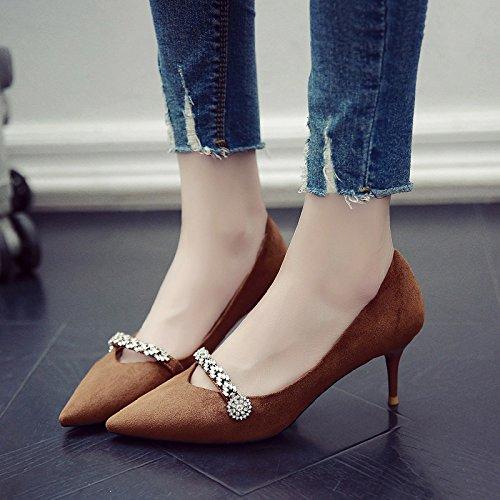 Solo Huang Alta Verano 5Cm Fina La Zapatos GAOLIM Punta Shoes Mujer Primavera Heel Con Jiao Con qUvxzftw6