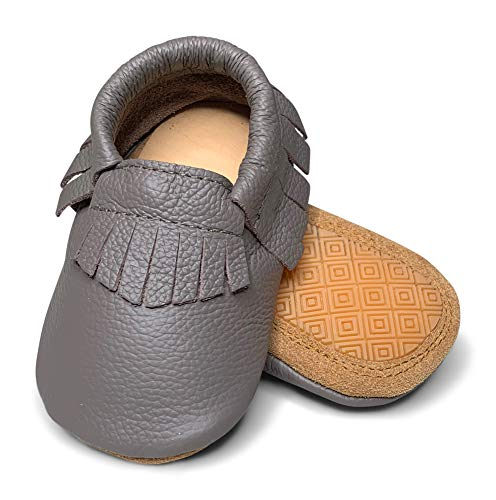 Lucky Love Baby Hard Sole Moccasins Toddler Shoes Boys 18-24 Months -