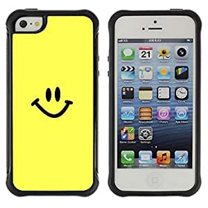 ZAAAZ Rugged Armor Slim Protection Case Cover Durable Shell - Happy Smiley Face - Apple Iphone 5 / 5S