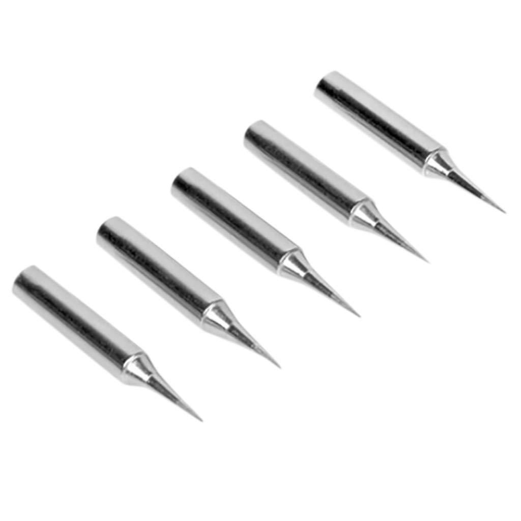 Hunputa Screwdriver Iron Tip Solder Head Conical Replace Welding Pencil Soldering 5pc B