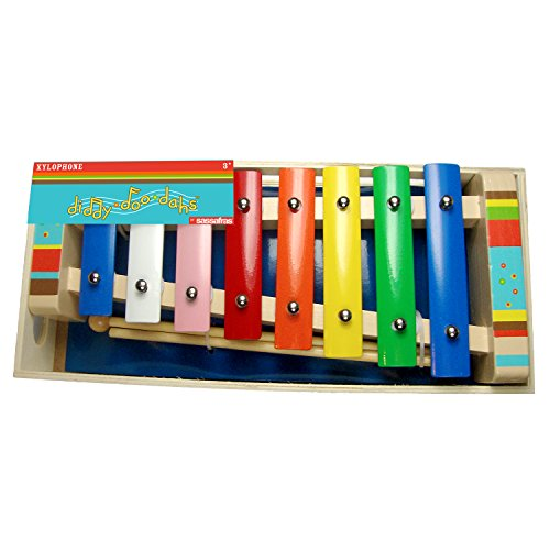Sassafras Diddy-Doo-Dah Bright Stripes Xylophone Music Set