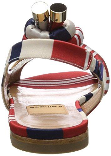 Arriere 001 1 Femme 5088 Bride Multicolore Sandales Multicolor Kallisté TPIgqwzO