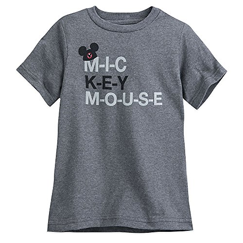 Disney The Mickey Mouse Club Mouseketeer Text T-Shirt For Kids Size XS (4) Gray