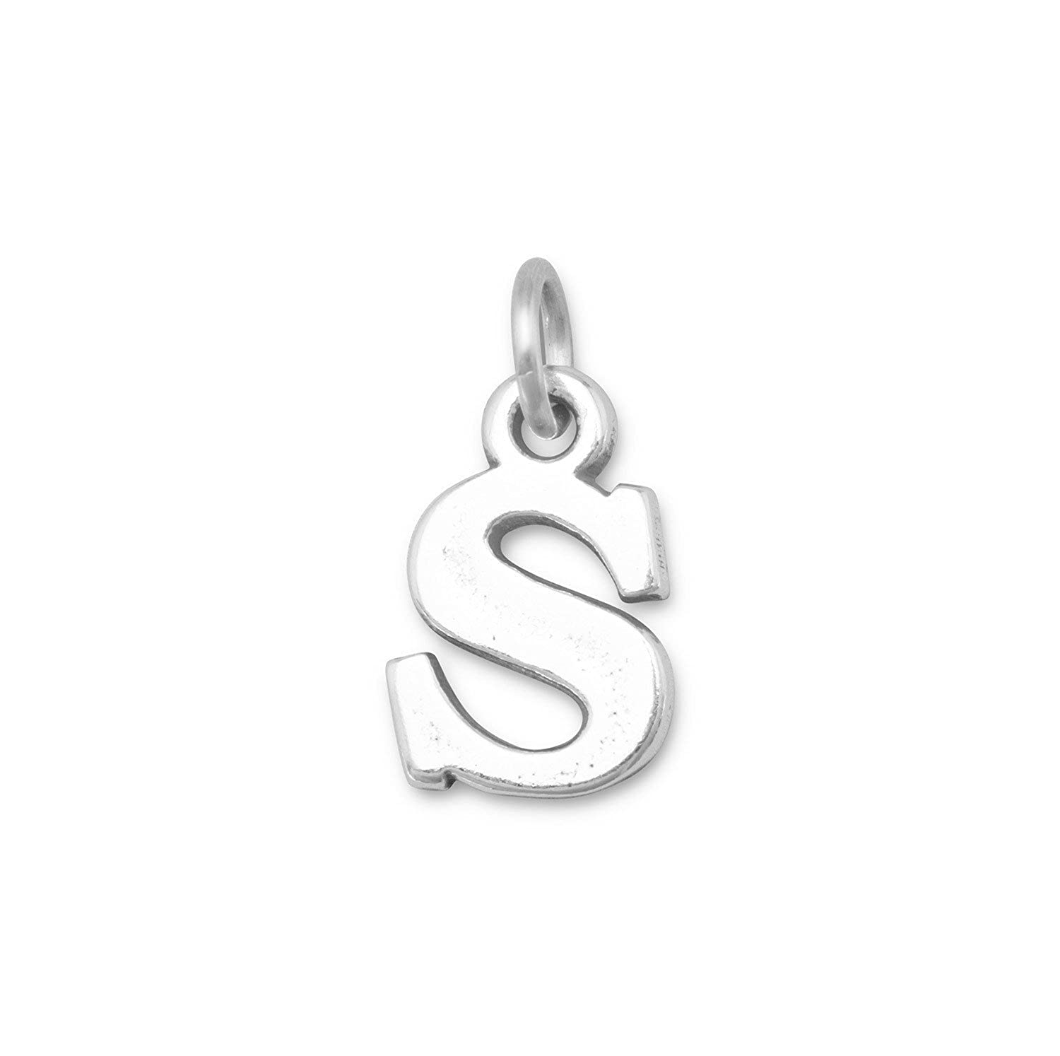 Bunnyberry Oxidized Sterling Silver Alphabet Charm