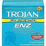 Trojan ENZ Spermicidal Lubricated Condoms, 36ct