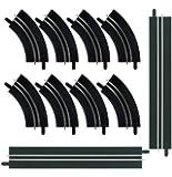 Carrera - GO 143: kit de 4 rectas, un carril y 8 curvas, un carril, escala 1:43 (20061657)