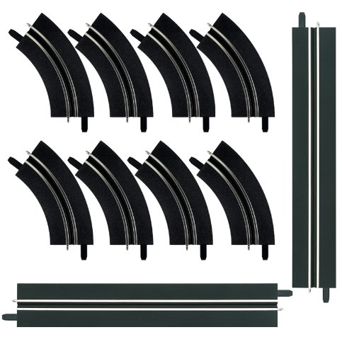 Carrera GO!!! 61657 Single-lane bends / Straight section extension set