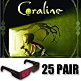 Coraline 3D Glasses Party Pack (GLASSES ONLY 25 pair)