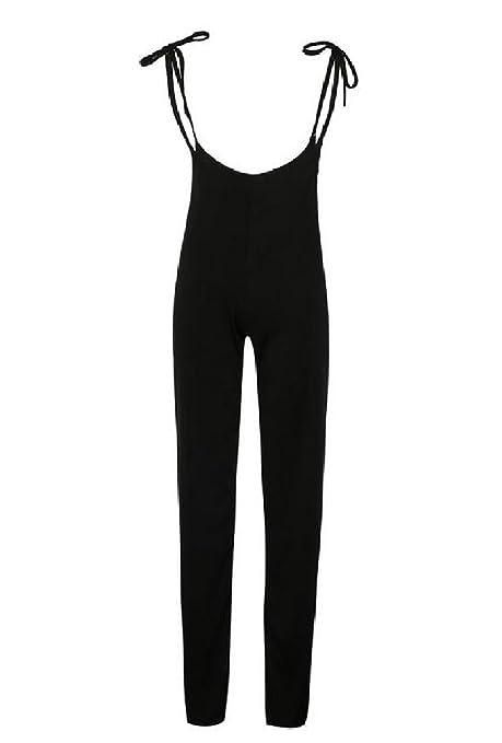 3d51ac86454 Amazon.com  Winwinus Women s Solid Suspenders Empire Waist Simple Office  Jumpsuit  Clothing