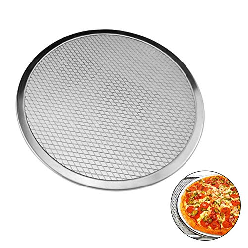 (Pizza Pan With Holes Seamless Aluminum Pizza Screen Chef's Classic Nonstick Bakeware 14-Inch (15)