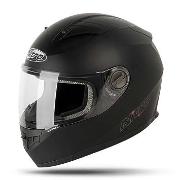 Nitro 187147 M02 casco Moto N2100 uno Negro Negro mate