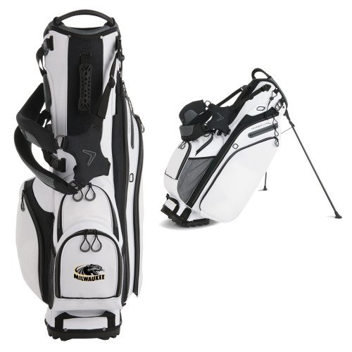 Wisconsin Milwaukee Callaway Hyper Lite 4 White Stand Bag 'Official Logo' by CollegeFanGear