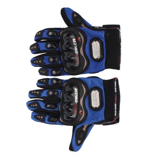 Pro-Biker Bike Motorcycle Motorbike Racing Full Finger Gloves Blue XL