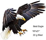 Bald Eagle Animal Wall Art Laser Cut Out Metal Sign 18x21