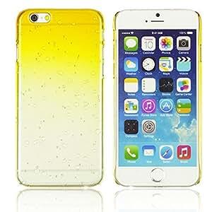 OnlineBestDigital - Transparent Gradient Water Drop Design Hard Back Case for Apple iPhone 6 Plus (5.5 inch) Smartphone - Yellow