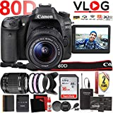 Canon EOS 80D DSLR Camera with Flip Screen and 18-55mm Lens and...