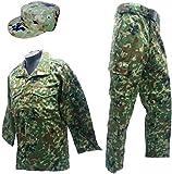 陸上自衛隊 迷彩服上下ベルト・パトロールキャップセット 陸上自衛隊迷彩戦闘服3型 M