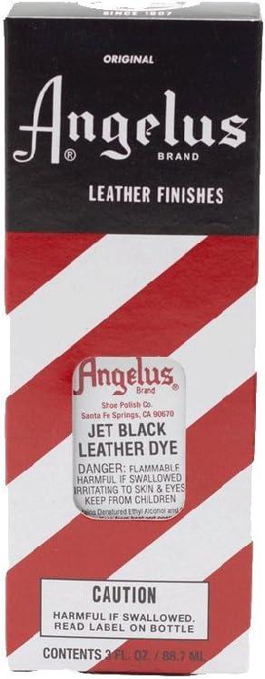 Tinte de cuero Angelus adecuado para pieles lisas, en diferentes colores, 88 ml negro negro azabache