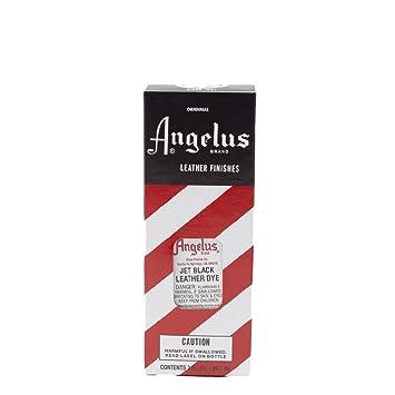 Tinte de cuero Angelus adecuado para pieles lisas, en diferentes colores, 88 ml negro negro azabache: Amazon.es: Hogar