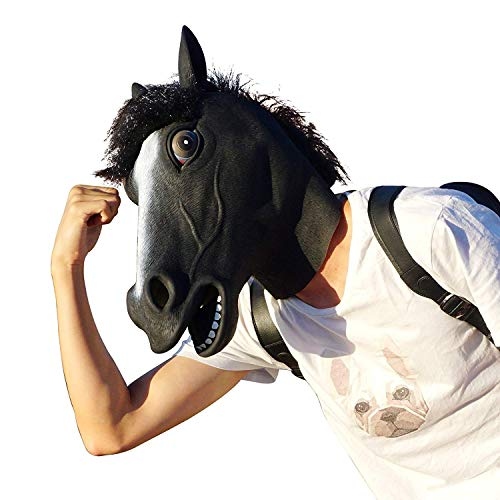 (Horse Mask/Horse Head Mask/Latex Animal Mask for Halloween,Party,Gifts,for Adult & Kids)