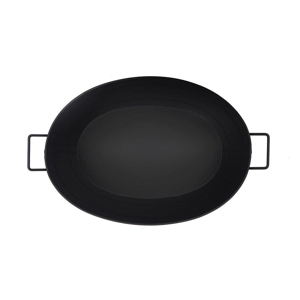 Achla Designs Black Oval Galvanized Steel Tub by Minuteman International (Image #9)