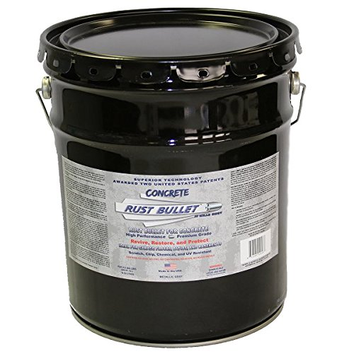Rust Bullet RBCON5G Metallic Gray Protective Floor Coating for Concrete, 5 gal by Rust Bullet