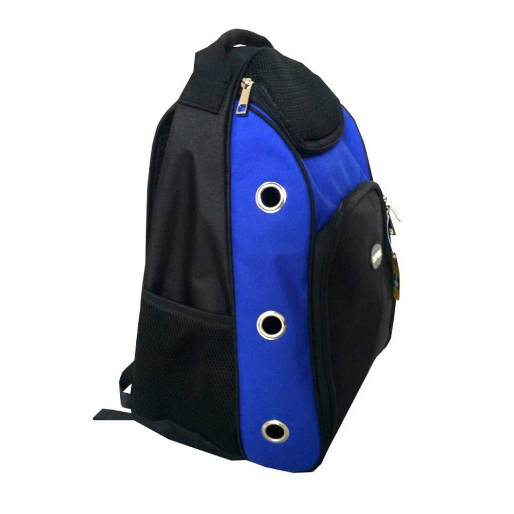 bluee 302045cm bluee 302045cm HYUE Pet Chest Bag Cat Bag Out Sports Backpack Outside Pet Backpack (color   bluee, Size   30  20  45cm)