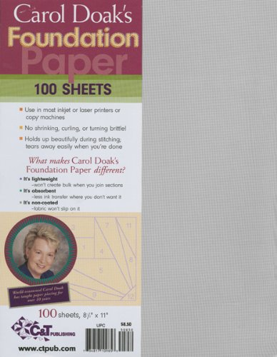 C& T Publishing 10985 Carol Doaks Foundation Paper-8-1-2 in. x 11 in. 100-Pkg 4337008522
