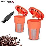 keurig filter for carafe - Xcellent Global 2 Pack Reusable Coffee Filter, Reusable K-Cups for Carafe, Keurig 2.0, K200, K300, K400, K500 Series
