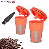 reusable carafe keurig - Xcellent Global 2 Pack Reusable Coffee Filter, Reusable K-Cups for Carafe, Keurig 2.0, K200, K300, K400, K500 Series