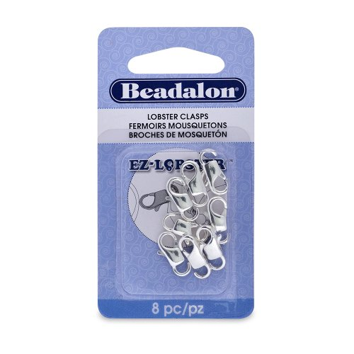 - Beadalon EZ-Lobster Clasp 13mm Nickel Free Silver, Plated, 8-Piece