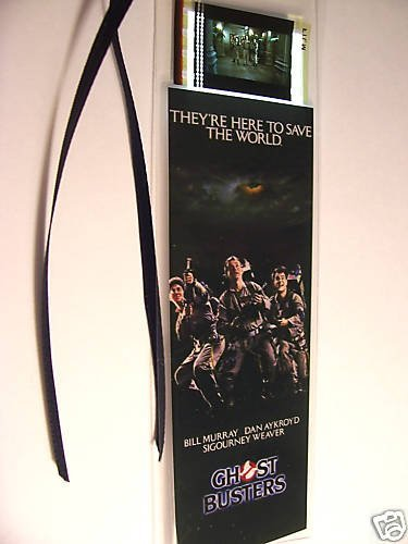 GHOSTBUSTERS movie film cell bookmark memorabilia collectible poster